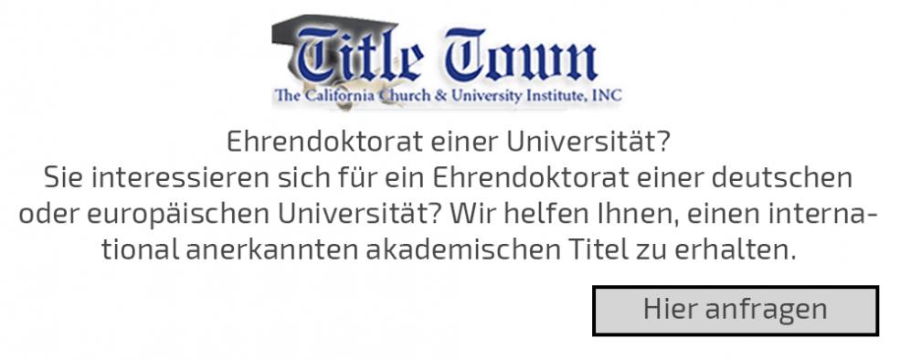 Ehrendoktorat einer Universität?