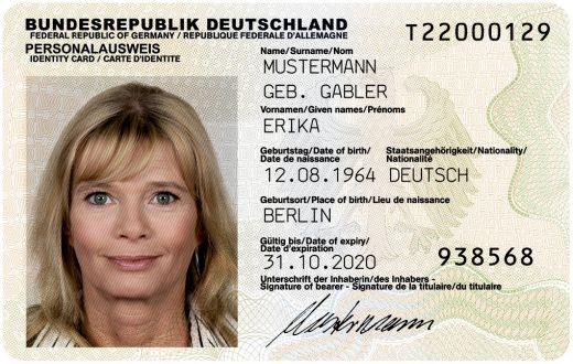 Personalausweis Eintragungspaket h.c.